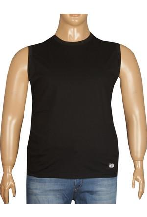 Fala Jeans Büyük Beden Yazlık Kolsuz Tshirt Siyah