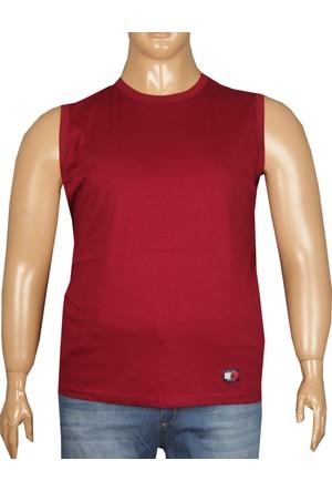 Fala Jeans Büyük Beden Yazlık Kolsuz Tshirt Bordo