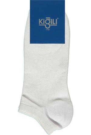 Kiğılı 2'li Spor Kısa Çorap Beyaz 125486