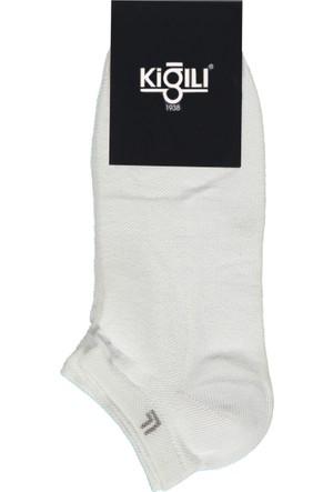 Kiğılı 2'li Spor Kısa Çorap Beyaz 125491