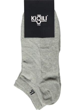 Kiğılı 2'li Spor Kısa Çorap Gri 125489
