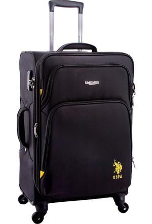 U.S. Polo Assn. Kumaş Orta Boy Valiz PLVLZ6006-M Siyah