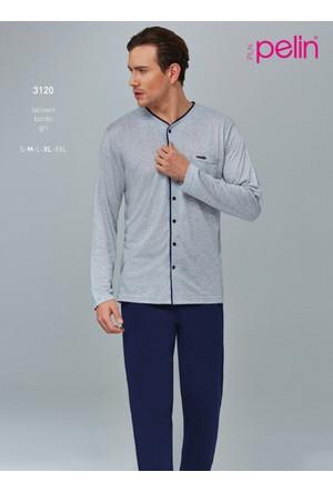 Pelin Klasik Önden Düğmeli Erkek Pijama Takım 3120