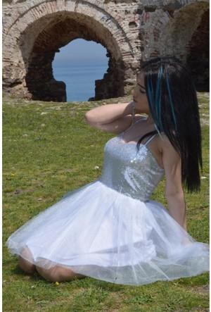 Espenica Pulpayet Kısa Elbise Eteği Tütü Abiye Mezuniyet Balo Nikah Nişan Düğün Gece Elbise 3576