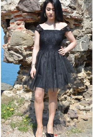 Espenica Dantel Tütü Kısa Elbise Abiye Mezuniyet Balo Düğün Nişan Nikah Gece Elbise 3577