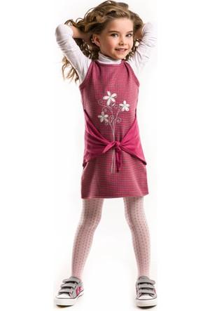 Mushi Önden Bağlamalı Pembe Elbise
