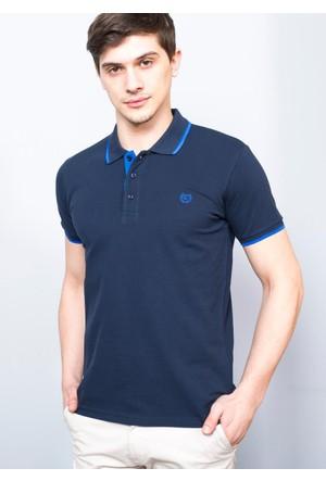 Adze Erkek Lacivert Polo Yaka Pike T-Shirt
