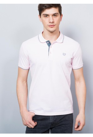 Adze Erkek Pudra Polo Yaka Pike T-Shirt