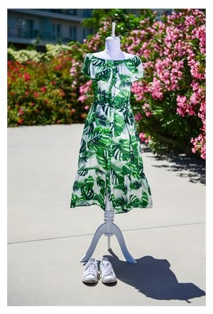 Familylook Tropical Leaf Woman Dress