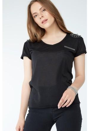 FullaModa Taşlı T-Shirt 17YLSK0003
