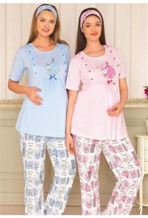 Baha 2926 2Li Lohusa Pijama Takımı Pembe