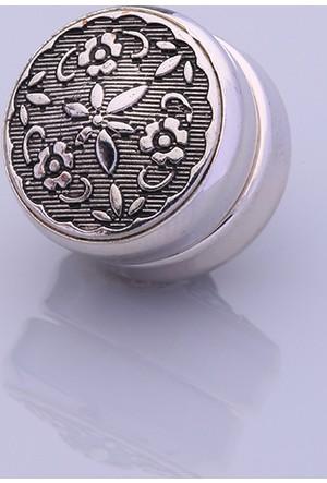 Fsg Takı Antresit Gümüş Kaplama Eşarp Mıknatısı