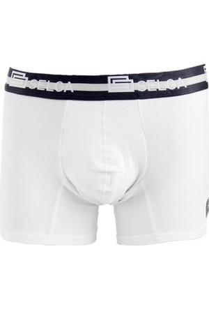 DeepSEA Beyaz Standart Düz Erkek Boxer 1707080-001