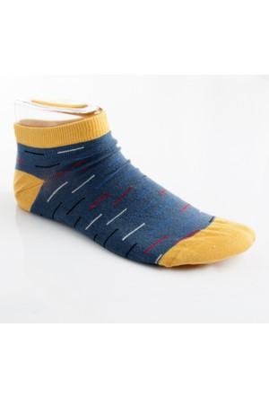 DeepSEA Mavi Desenli Kısa Erkek Çorap 1707064-005