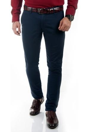 DeepSEA Lacivert Klasik Slim Fit Spor Kesim Keten Erkek Pantolon 1702440-008