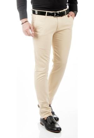 DeepSEA Taş Klasik Slim Fit Spor Kesim Keten Erkek Pantolon 1702440-109