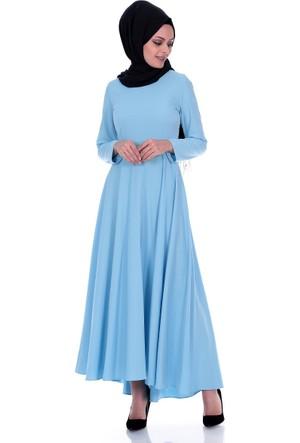 Modaateşi Kloş Elbise 1213 Mavi
