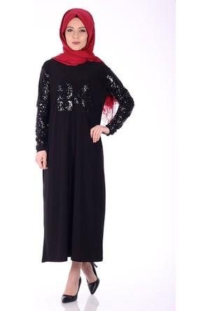 Modaateşi Payetli Sandy Elbise 0071 Siyah
