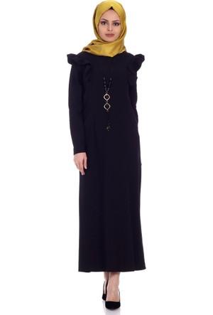 Modaateşi Kolyeli Elbise 8046 Siyah