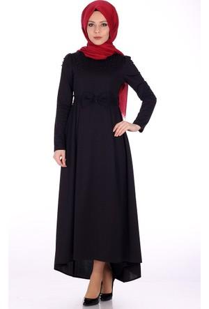 Modaateşi Fiyonklu Elbise 3783 Siyah