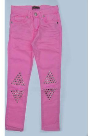 Escabel Kız Çocuk Dizi Yırtık Taşlı Pantolon