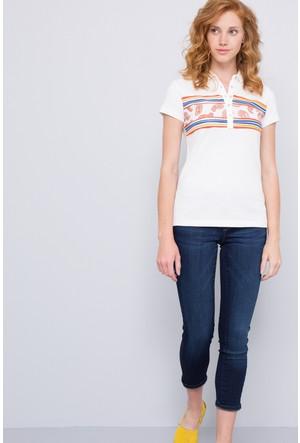 U.S. Polo Assn. Kadın Cave Polo T-Shirt Bej