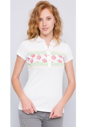 U.S. Polo Assn. Kadın Code Polo T-Shirt Bej