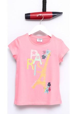 U.S. Polo Assn. Kız Çocuk Gavel T-Shirt Pembe