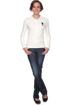 U.S. Polo Assn. Kadın Green Label Jean Jean Pantolon Mavi