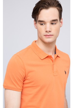 U.S. Polo Assn. Erkek Gtp04İy7 Polo T-Shirt Turuncu