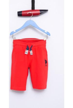 U.S. Polo Assn. Erkek Çocuk Gunderiy7 Şort Kırmızı