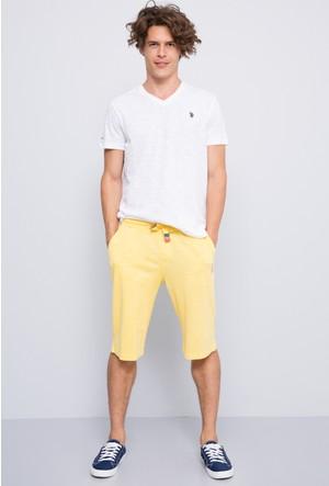 U.S. Polo Assn. Erkek Jawk Bermuda Sarı