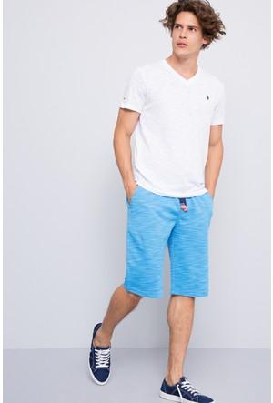 U.S. Polo Assn. Erkek Jawk Bermuda Mavi