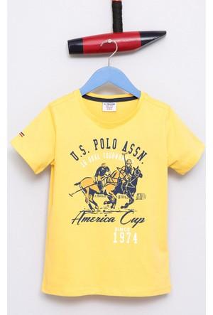 U.S. Polo Assn. Erkek Çocuk Jenna T-Shirt Sarı Sarı