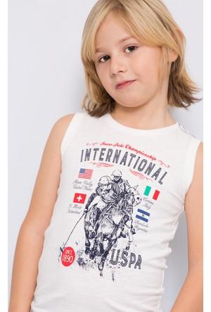 U.S. Polo Assn. Erkek Çocuk Nick T-Shirt Sarı Bej