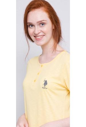 U.S. Polo Assn. Kadın Patli Pijama Takımı Sarı