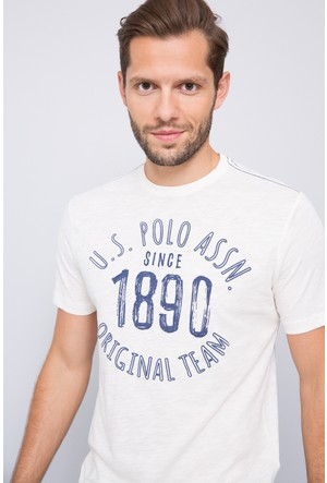 U.S. Polo Assn. Erkek Perak T-Shirt Bej