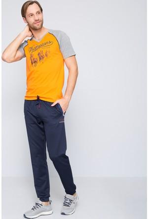 U.S. Polo Assn. Erkek Quin V Yaka T-Shirt Turuncu