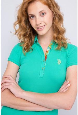 U.S. Polo Assn. Kadın Rp01İy07-011 Polo T-Shirt Yeşil