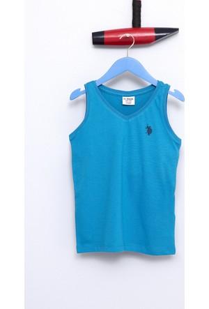 U.S. Polo Assn. Erkek Çocuk Rusti T-Shirt Mavi