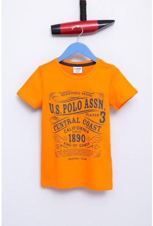 U.S. Polo Assn. Erkek Çocuk Samu T-Shirt Turuncu
