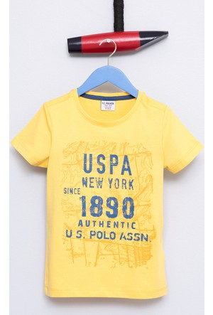 U.S. Polo Assn. Erkek Çocuk Sasori T-Shirt Sarı
