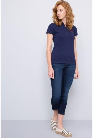 U.S. Polo Assn. Kadın Sd01İy07-011 Polo T-Shirt Lacivert