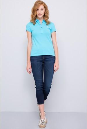U.S. Polo Assn. Kadın Sd01İy07-011 Polo T-Shirt Yeşil
