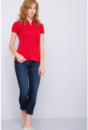 U.S. Polo Assn. Kadın Sd01İy07-011 Polo T-Shirt Kırmızı