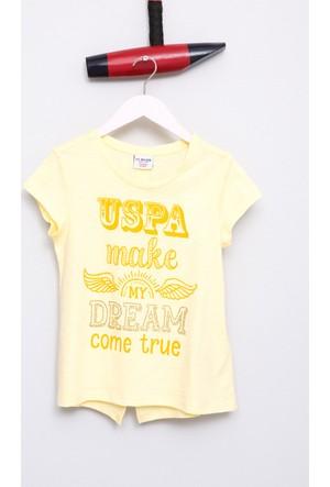 U.S. Polo Assn. Kız Çocuk Varlet T-Shirt Sarı