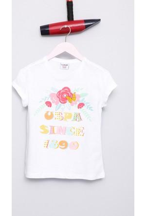 U.S. Polo Assn. Kız Çocuk Viki T-Shirt Beyaz