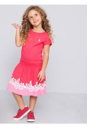 U.S. Polo Assn. Kız Çocuk Vinci Elbise Pembe