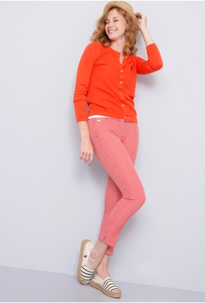 U.S. Polo Assn. Kadın Viva7Y Pantolon Kırmızı