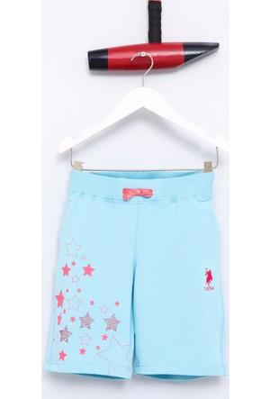 U.S. Polo Assn. Kız Çocuk Vonda Şort Mavi